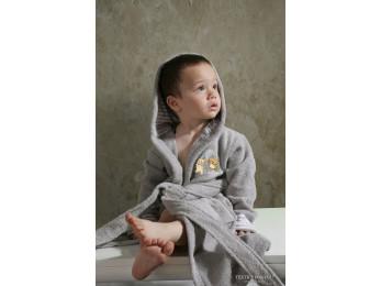 Халат детский махровый KARNA TEENY (4-5 лет) - Серый