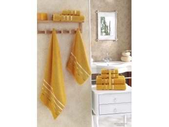 Набор махровых полотенец KARNA BALE  (4 шт.) - Темно-желтый