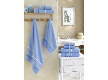 Набор махровых полотенец KARNA BALE  (4 шт.) - Голубой