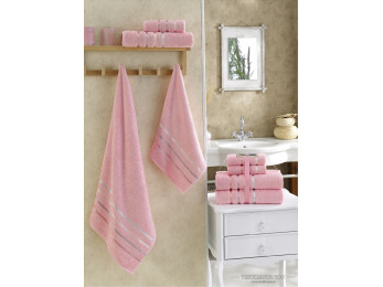 Набор махровых полотенец KARNA BALE  (4 шт.) - Розовый