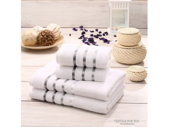 Набор махровых полотенец KARNA BALE  (4 шт.) - Белый