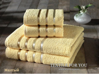 Набор махровых полотенец KARNA BALE  (4 шт.) - Желтый