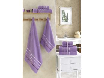 Набор махровых полотенец KARNA BALE  (4 шт.) - Сиреневый