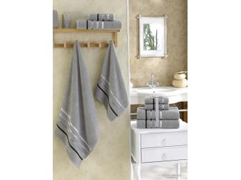Набор махровых полотенец KARNA BALE  (4 шт.) - Серый