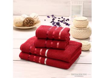 Набор махровых полотенец KARNA BALE  (4 шт.) - Красный