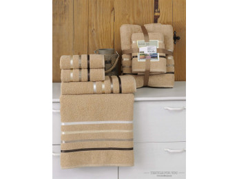 Набор махровых полотенец KARNA BALE  (4 шт.) - Горчичный