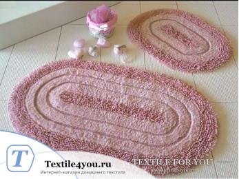 Набор ковриков для ванной DO&CO OVAL EFES (60x100 см; 50x60 см) Брусничный