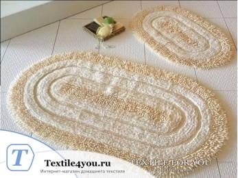 Набор ковриков для ванной DO&CO OVAL EFES (60x100 см; 50x60 см) Молочный
