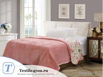 Плед DO&CO Арфа LUX (160x220 см) Светло-розовый