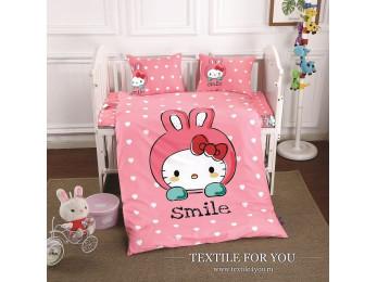 Постельное белье для новорожденных DO&CO  SMILE Сатин
