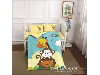 Постельное белье для новорожденных DO&CO  SAFARI Сатин