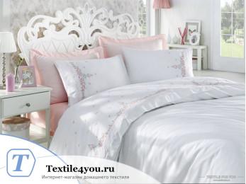 Постельное белье DANTELA VITA NELLY Cатин с вышивкой (Евро)