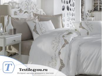 Постельное белье DANTELA VITA PARADİSE Сатин с вышивкой и гипюром (Евро)