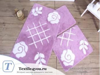 Набор ковриков для ванной DO&CO  PASTEL (60x100 см; 50x60 см) Лиловый