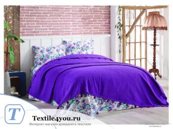 Постельное белье DO&CO  LARITA Ранфорс с покрывалом (Евро) Фиолетовый
