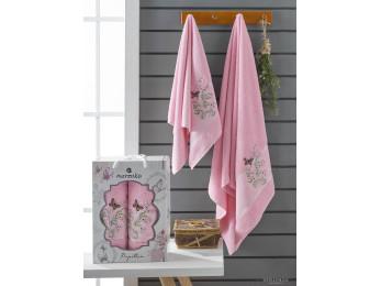 Набор полотенец MERZUKA PAPILLON (2 шт.) Розовый