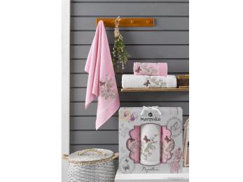 Набор полотенец MERZUKA PAPILLON (3 шт.) Розовый