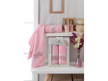 Набор полотенец MERZUKA DAISY GOLD (2 шт.) Розовый
