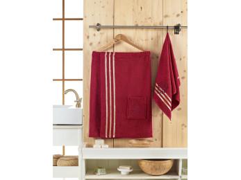 Набор для сауны женский JUANNA SEVAKIN - Бордовый