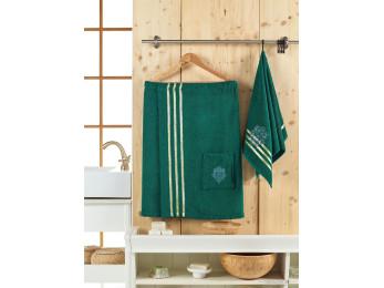 Набор для сауны женский JUANNA SEVAKIN - Тёмно-зелёный