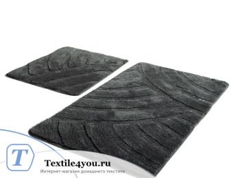 Набор ковриков для ванной DO&CO  ALYA (60x100 см; 50x60 см) Тёмно-серый