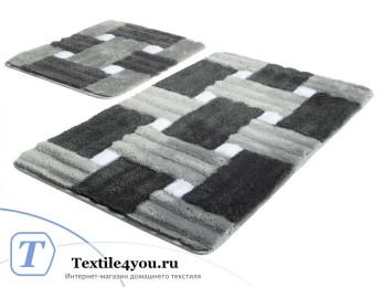 Набор ковриков для ванной DO&CO  PIAZZA (60x100 см; 50x60 см) Серый
