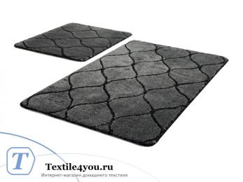 Набор ковриков для ванной DO&CO  INFINITY (60x100 см; 50x60 см) Антрацит