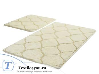 Набор ковриков для ванной DO&CO  INFINITY (60x100 см; 50x60 см) Молочный (Екру)