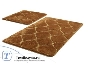 Набор ковриков для ванной DO&CO  INFINITY (60x100 см; 50x60 см) Коричневый