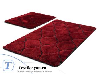 Набор ковриков для ванной DO&CO  INFINITY (60x100 см; 50x60 см) Красный