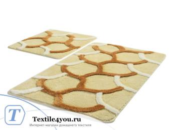 Набор ковриков для ванной DO&CO  ELEGANT (60x100 см; 50x60 см) Бежевый