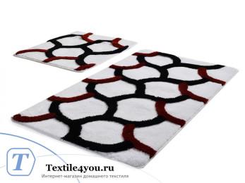 Набор ковриков для ванной DO&CO  ELEGANT (60x100 см; 50x60 см) Белый