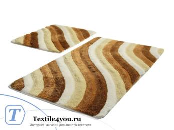 Набор ковриков для ванной DO&CO  COLORFUL (60x100 см; 50x60 см) Бежевый