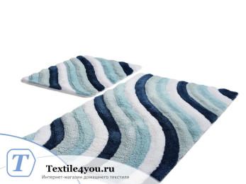 Набор ковриков для ванной DO&CO  COLORFUL (60x100 см; 50x60 см) Голубой