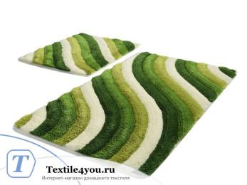 Набор ковриков для ванной DO&CO  COLORFUL (60x100 см; 50x60 см) Зелёный