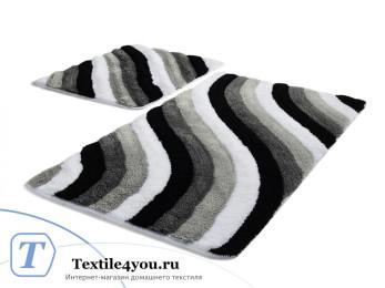 Набор ковриков для ванной DO&CO  COLORFUL (60x100 см; 50x60 см) Серый