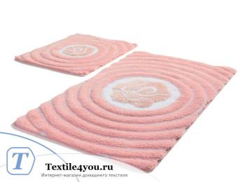 Набор ковриков для ванной DO&CO FLORIA (60x100 см; 50x60 см) Розовый