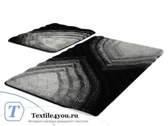 Набор ковриков для ванной DO&CO  STELLA (60x100 см; 50x60 см) Антрацит