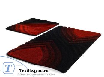 Набор ковриков для ванной DO&CO  STELLA (60x100 см; 50x60 см) Красный