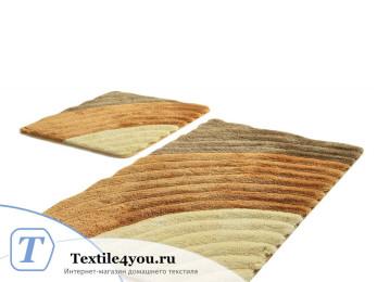Набор ковриков для ванной DO&CO  WELL (60x100 см; 50x60 см) Коричневый