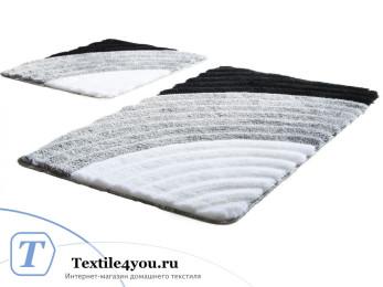 Набор ковриков для ванной DO&CO  WELL (60x100 см; 50x60 см) Серый