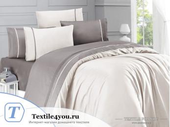 Постельное белье DO&CO  STYLE Сатин (Евро) Молочный