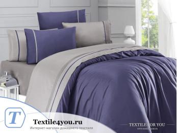 Постельное белье DO&CO STYLE Сатин (Евро) Светло-синий