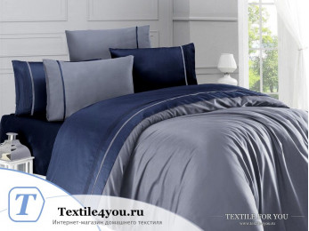 Постельное белье DO&CO  STYLE Сатин (Евро) Серый