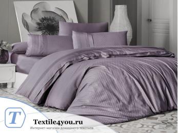 Постельное белье DO&CO SQUARE Сатин Жаккард DELUX (Евро) Фиолетовый