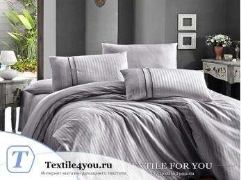 Постельное белье DO&CO STRIPE STYLE Сатин жаккард DELUX (Евро) - Серый