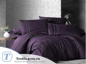 Постельное белье DO&CO STRIPE STYLE Сатин жаккард DELUX (Евро) - Фиолетовый