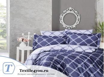 Постельное белье DO&CO  GREK Сатин DELUX (Евро) Синий