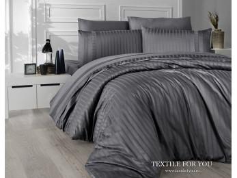 Постельное белье DO&CO NEW TREND Сатин Жаккард (Евро) Серый