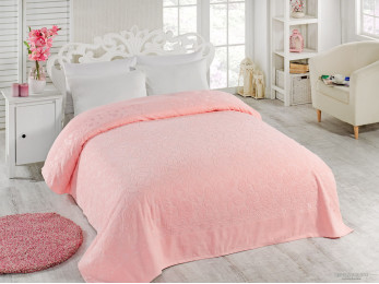Простынь махровая TWO DOLPHINS  ASIYA (160x220 см) - Розовый
